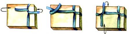 Как сделать из веревки ручку для коробки