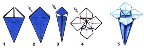 Как сделать цветы колокольчики из бумаги